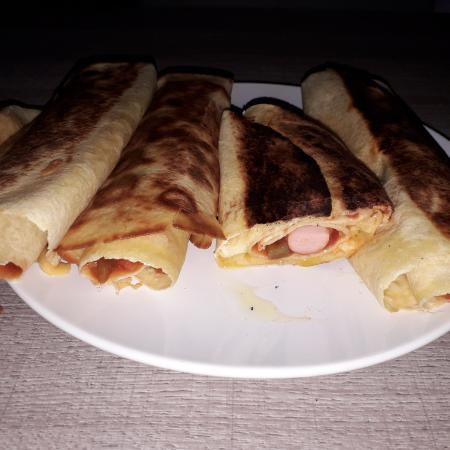 Quesadillas façon hot dog