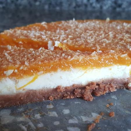 Cheesecake mangue coco