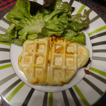 Gaufres pizza aux 3 fromages