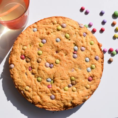 Cookie géant aux mini smarties