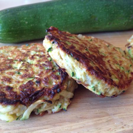 Galettes flocons d'avoine courgette