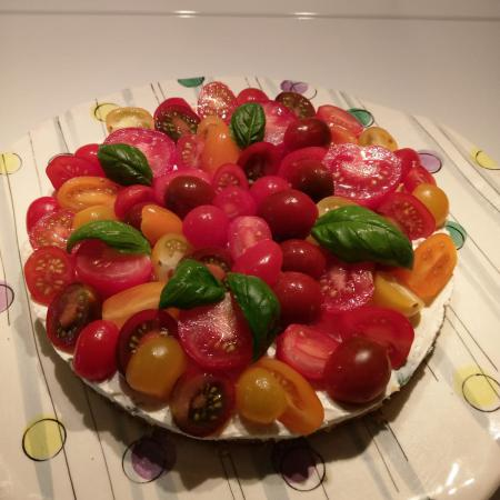 Cheesecake sans cuisson aux tomates