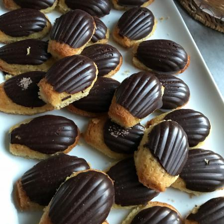 Madeleines faciles coques chocolat