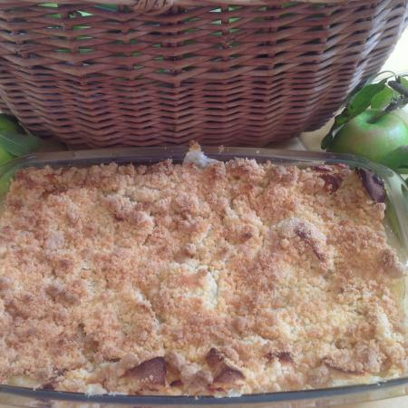 Crumble pomme coing noisette