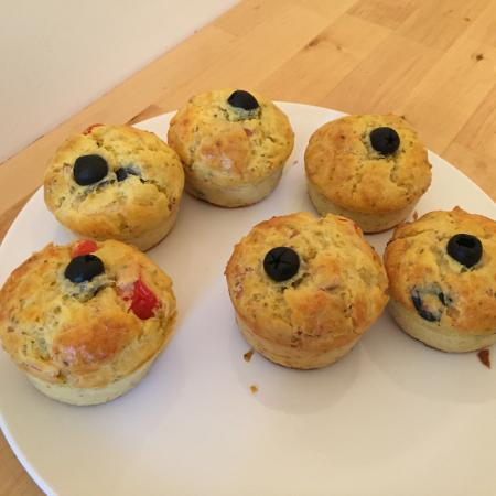 Muffins façon pizza