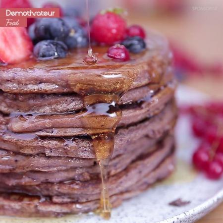 Pancakes quinoa fruits rouges