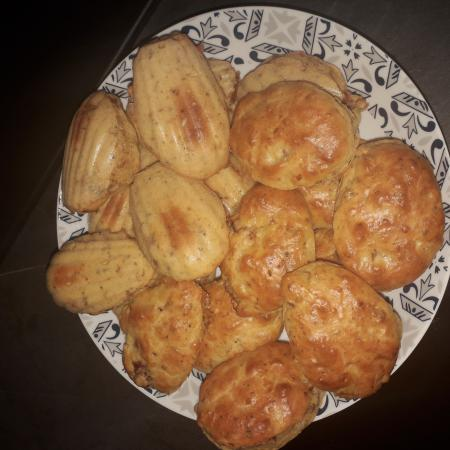 Madeleines tomates séchées  fromage