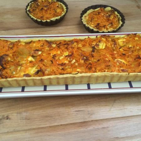 Quiche carottes curry feta