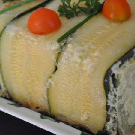 Terrine froide courgettes et fromage frais