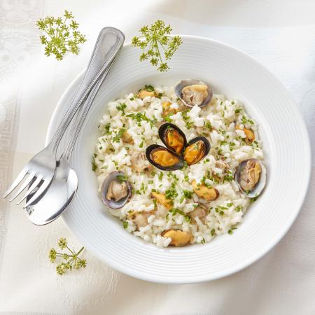 Risotto aux coquillages